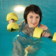 Stock Photo: Aquaaerobic girl