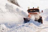 Snowplow at work — Stock Photo