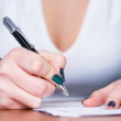 Writing girl — Stock Photo #4448299
