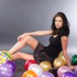 Woman with balloons — Stock Photo #4528690