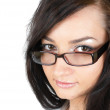 Girl with glasses - Stock Photo