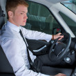 Stock Photo: Driving man