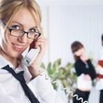 Calling woman — Stock Photo #4552377