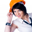 Girl in helmet - Stock Photo