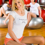 Girl in fitness center — Stock Photo #4556979