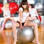 Girl in fitness center — Stock Photo #4557092