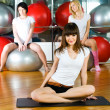 Girl in fitness center — Stock Photo #4594396