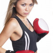 Boxing girl — Stock Photo #4595776