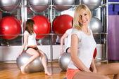 Fitness meisjes — Stockfoto