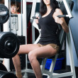 Girl in fitness center — Stock Photo #4635635