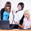 Businesswomen in office — Foto Stock