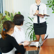 Businesswoman presentation — Stock Photo