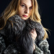 Attractive woman in fur coat — Stock Photo #4722263