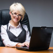 Woman with laptop - Stockfoto