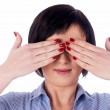 Woman with closed eyes — Stock Photo