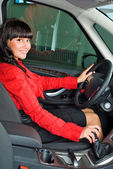 Pretty woman - driver — Stock fotografie