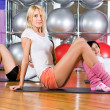 Girl in fitness center — Stock Photo #4801086