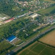 View of town or village seen from above — Stockfoto #4910256