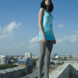 Young woman on roof — Stock Photo #4918322