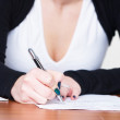 Writing girl — Stock Photo