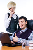 Successful young businessman — Stockfoto