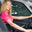 Driving girl - Stock Photo