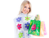 Young woman with bag — Stock Photo
