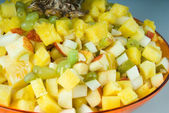 Salad on plate — Stock Photo