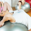 girl in fitness center — Stock Photo #4991339