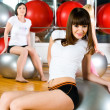 girl in fitness center — Stock Photo #4991390