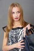 Sexig fashionabla kvinna — Stockfoto
