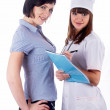 Royalty-Free Stock Photo: Female doctor and patient