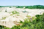 Amber open-cast mining in Yantarny, Russia — Stock Photo