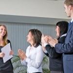 Woman making a business presentation — Stock Photo