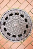 Old manhole — Stockfoto