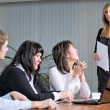 Stock Photo: Woman making a business presentation