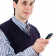 Man with mobile phone — Stock Photo