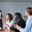 Stock Photo: Wommaking business presentation