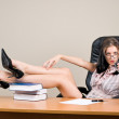 Young woman boss — Stock Photo