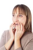 Surprised girl — Stock Photo