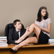 Boss and him secretary - Stock Photo