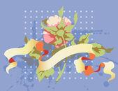 роуз и баннер — Cтоковый вектор