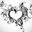 Vector de stock : Heart frame