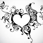 hjärta ram — Stockvektor