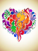 Färg abstrakt hjärta — Stockvektor