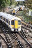 Příměstské vlaky — Stock fotografie