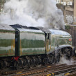 Streamlined steam locomotive - Stockfoto