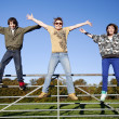 Family jumping — Stock Photo
