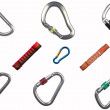 Stock Photo: Karabiner compilation