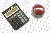 Calculation Panic — Stock Photo
